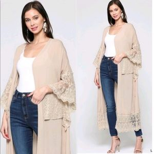 Arrived!New Gorgeous Duster Cardigan w/lace detail